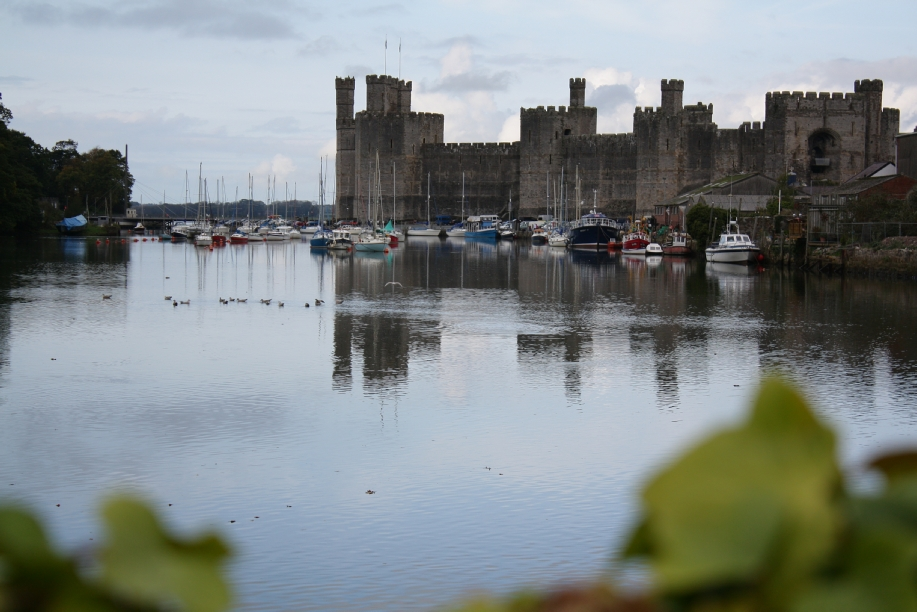 Caernarvon Castle, North Wales, UK - symbol of Norman oppression
